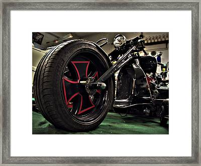 Old Motorbike Framed Print by Tamara Sushko