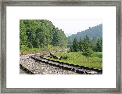 Old Mountain Railway Framed Print by Christopher Purcell