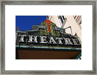 Old Movie Theatre Sign Framed Print