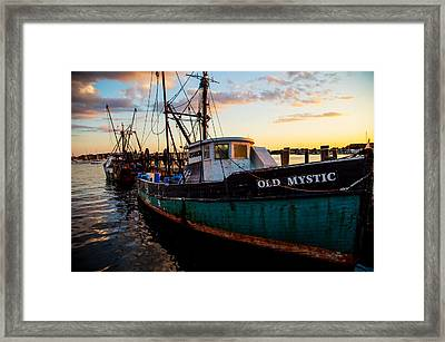 Old Mystic At Dock Framed Print