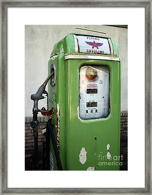 Old National Gas Pump Framed Print by DazzleMePhotography