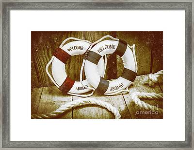 Old Nautical Art Framed Print