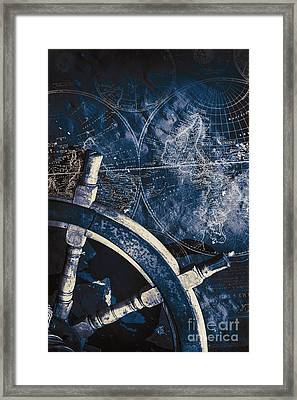 Old Nautical Navigation Framed Print