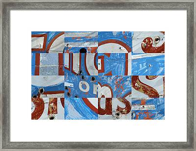Old Neon 8 Framed Print by Robert Glover