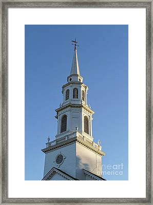Old New England Church Steeple Concord Framed Print by Edward Fielding