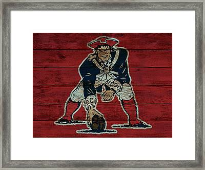 Old New England Patriots Wood Panel Framed Print