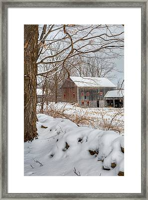 Old New England Winter 2016 Framed Print by Bill Wakeley