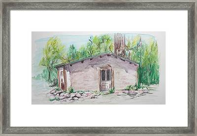 Old New Mexico House Framed Print