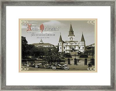 Old New Orleans Louisiana - Founded 1718 Framed Print