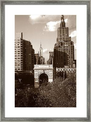 Washington Arch And New York University Framed Print