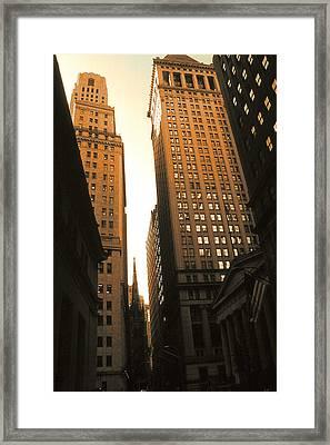 Old New York Wall Street Framed Print