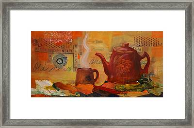 Old News And Breakfast Framed Print by Lynn Chatman