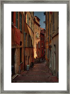 Old Nice - Vieille Ville 004 Framed Print by Lance Vaughn