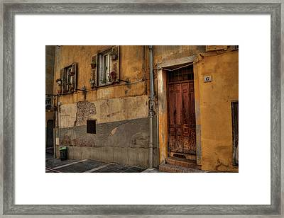 Framed Print featuring the photograph Old Nice - Vieille Ville 008 by Lance Vaughn