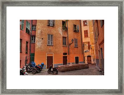 Framed Print featuring the photograph Old Nice - Vieille Ville 010 by Lance Vaughn