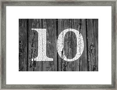 Old No. 10 Framed Print by Todd Klassy