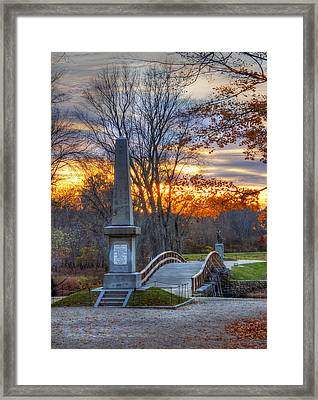 Old North Bridge - Concord Ma Framed Print by Joann Vitali