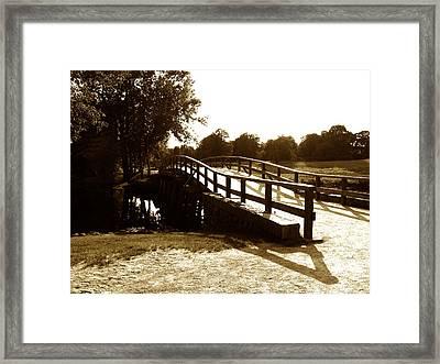 Old North Bridge Framed Print by Desiree Schmidt