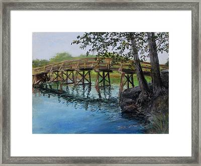 Old North Bridge In Pastel Framed Print