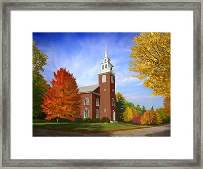 Old North Church Framed Print by James Charles