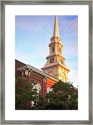 Old North Church Steeple Framed Print