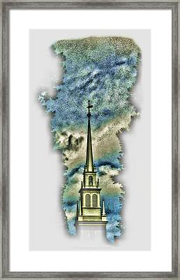 Old North Church Steeple Framed Print