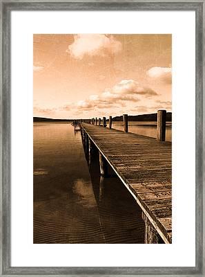 Old Oak Bridge Framed Print