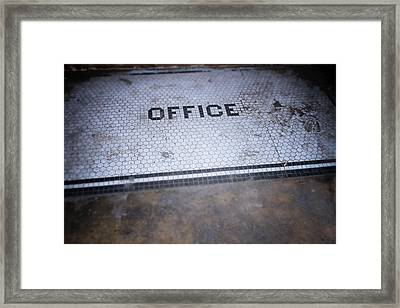 Old Office- Urban Photography By Linda Woods Framed Print by Linda Woods