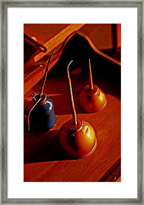 Old Oil Cans Framed Print