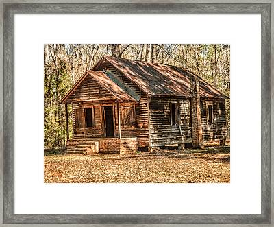 Old One Room School House Framed Print by Phillip Burrow