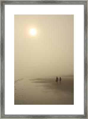 Old Orchard Beach Foggy Evening Framed Print by John Burk
