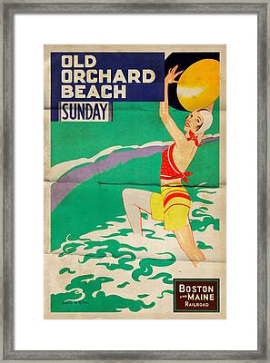 Old Orchard Beach - Folded Framed Print