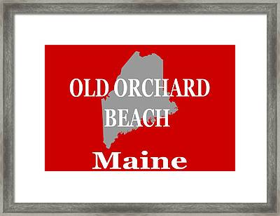 Old Orchard Beach Maine State City And Town Pride  Framed Print by Keith Webber Jr