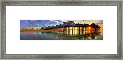 Old Orchard Beach Pier At Sunrise - Maine Framed Print by Joann Vitali