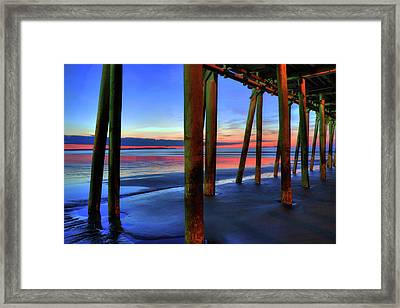 Framed Print featuring the photograph Old Orchard Beach Pier -maine Coastal Art by Joann Vitali