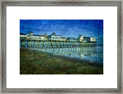 Old Orchard Beach Pier  Oob Framed Print by Susan Candelario