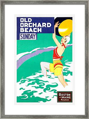 Old Orchard Beach - Restored Framed Print
