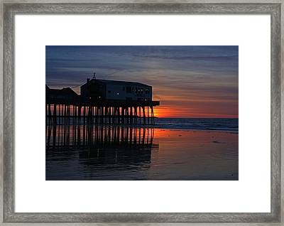 Old Orchard Beach Sunrise Framed Print by Laurie Breton