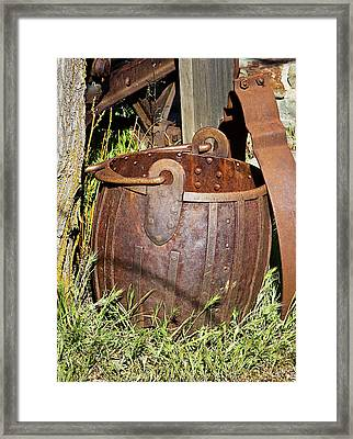 Old Ore Bucket Framed Print