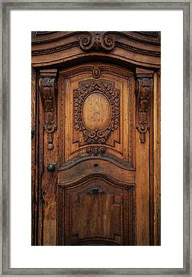 Old Ornamented Wooden Doors Framed Print