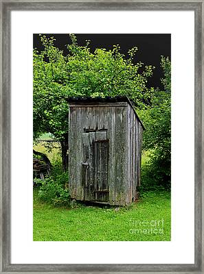 Old Outhouse Framed Print by Esko Lindell