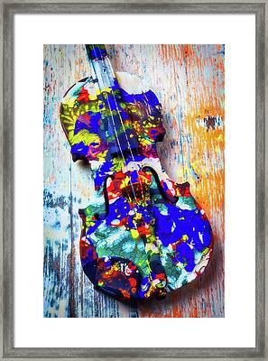Old Painted Violin Framed Print