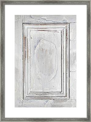 Vintage Wooden Door Panel Framed Print by Elena Elisseeva