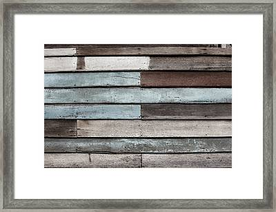 Old Pale Wood Wall Framed Print