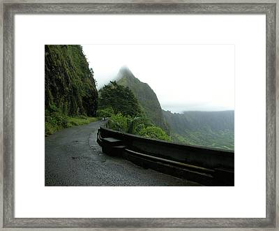 Framed Print featuring the photograph Old Pali Road, Oahu, Hawaii by Mark Czerniec