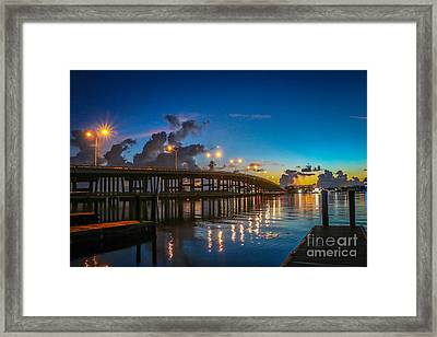 Old Palm City Bridge Framed Print
