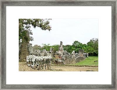 Old Panama City Ruins 8 Framed Print by Douglas Barnett