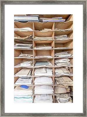 Old Paper Work Accountant Framed Print