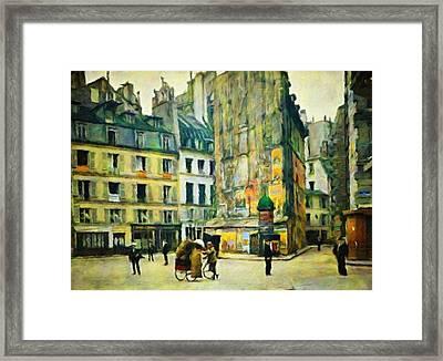 Old Paris Framed Print by Vincent Monozlay