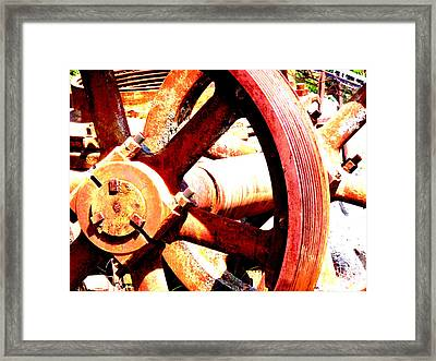 Old Parts Framed Print by Tim Tanis
